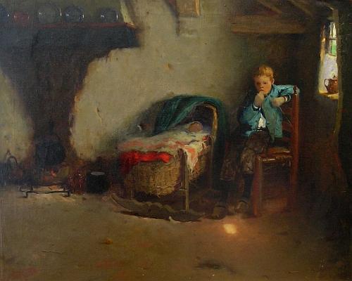 Walther Castle Keith: Schilderij interieur bij Kunsthandel Groenland ...